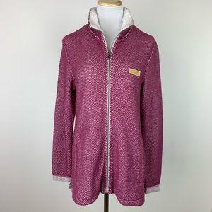 Jadelynn Brooke Maroon Zip Front Jacket Sz Small